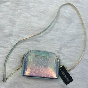 Steve Madden Holographic mini purse